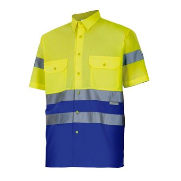 Camisa hombre m/c av bicolor 142 velilla