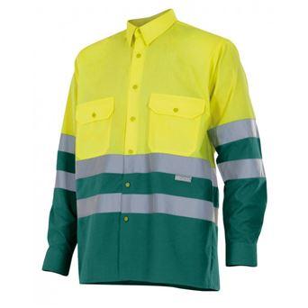 Camisa hombre m/l av bicolor 144 velilla - 00004861-AF-V