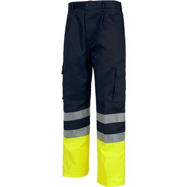 Pantalon av bicolor con cintas c4014 workteam