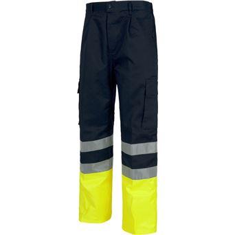 Pantalon av bicolor con cintas c4014 workteam - 00007041-M-AF