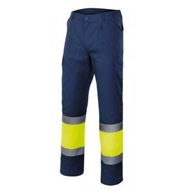 Pantalon av multibolsillos bicolor 303003 velilla