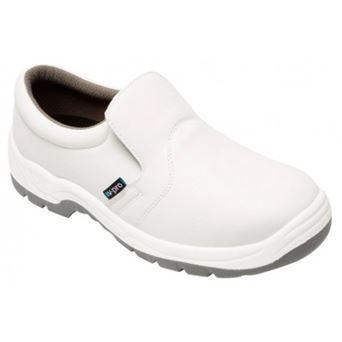 Zapato c/puntera de acero blanco z450a velilla - 00008597