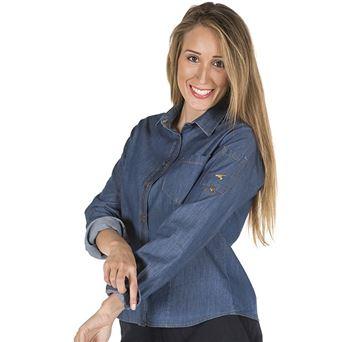 Camisa mujer m/l valeria tejano fino 2401 garys - 00006952