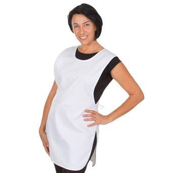 Casulla mujer bolsillo centro sarga blanca 2020 garys - 00004764