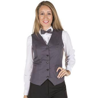 Chaleco mujer camarera 9934 garys - 00007036-GRI-MAR