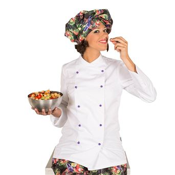 Chaqueta cocina mujer niza c/botones 9180 garys - 00005388-BLA